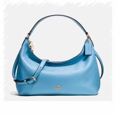 "Coming Soon  Coach Hobo Spring is here!!!!! Color: BLUE.  Pebble Leather.  Handled with 8 1/2"" Drop.  Zipper closure.  Longer strap with 20"" Drop for shoulder or cross body wear. Coach Bags Hobos"
