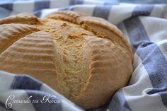 Cocinando con Kisa: Pan con leche de soja y harina de maiz (kitchenAid y horno tradicional)