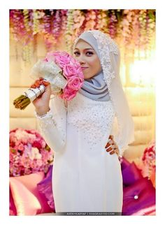 My Nikah Day. With light pink hijab!