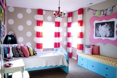 Bedroom Makeover and Striped Curtain Tutorial...