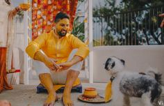 Coolest Haldi Ceremony Shots We Spotted On Real Brides And Grooms! Dog Wedding, Wedding Shoot, Wedding Church, Wedding Outfits, Dog Portraits, Bridal Portraits, Wedding Pictures, Cute Pictures, Mehndi Night