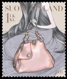 Fashion stamp by Laura Laine and Johannes Ekholm Old Letters, Envelope Art, Stamp Collecting, Mail Art, Illustration Art, Illustrations, Postage Stamps, Finland, Aurora Sleeping Beauty