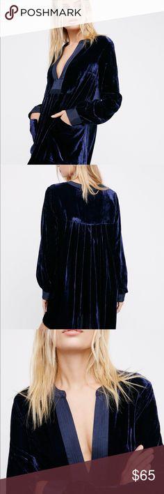 Freepeople choose me velvet mini Beautiful velvet mini dress with silky detail Free People Dresses Mini