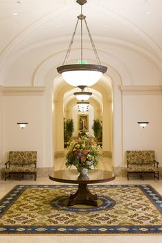 A hallway in the Fort Collins Colorado Temple.