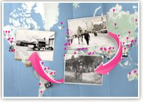 History Pin website.  Explore history through pictures, videos and stories