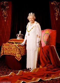 She may have some ghastly forebearers, but Her Majesty is lovely. Her  sense of humor was evident when she joked about hosting garden parties ('how would YOU like 12,000 complete strangers trampling on YOUR lawn?') and David Beckham with Piers. She is pictured here in a 2002 portrait