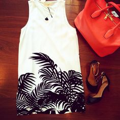 Palm Dress  #bellaragazzaboutique #newarrivals #blackswan #blackandwhite #summerstyle
