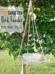 DIY beautify Thrifted Bird Feeder www.diybeautify.com