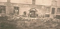 August Workers in the mills and bakeries declared a Soviet in the village of Bruree in County Limerick, Ireland.A rare photograph features a sign workers affixed to one of the mills, reading. Limerick Ireland, General Strike, National Movement, The Ira, Self Organization, Interesting Topics, Political Issues, Working Class, Historia