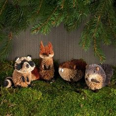 The most adorable animals that you would ever want in your toddler's room!  These Buri Woodland animals are ornaments for a tree.  I instead just cut off the hanging string and placed them on the bookshelves.