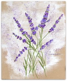 How to paint Lavender flowers with neocolor ll on kraftpaper - easy tutorial  https://www.youtube.com/watch?v=gp6USMW8F88