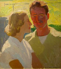 """""""Helen and Bob ('mudheads')"""" by Henry Hensche"""