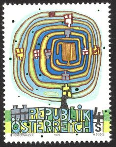 Hundertwasser Stamp
