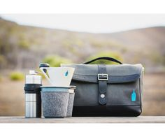 We have just spied a very clever travel kit featuring Falcon Enamelware. Introducing the x Blue Bottle Travel Coffee Kit. The Coolector says 'These x Blue Bottle Travel Coffee Kits.