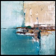 Meet Me By The Sea - Original Large Abstract Contemporary Modern Art Painting by Fidostudio Elwira