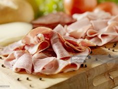 Stock Photo : Italian Meats with Cheese and Vegetables