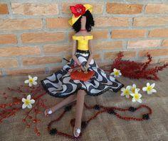 Niña de muñeca tilda de Copacabana personalizado trapo muñeca