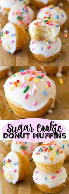 Sugar Cookie Donut Muffin Recipe | http://www.ihearteating.com | #breakfast #Christmas