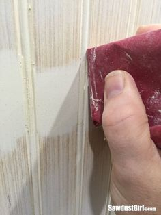 In case you need to know, I'm going to show you how to hide seams in beadboard. Preferably you won't have seems but if you do, I got ya covered. How to hide seams in Beadboard First, l… Home Renovation, Layout Design, Design Ideas, Sawdust Girl, Up House, Cabinet Decor, Basement Remodeling, Basement Ideas, Remodeling Ideas
