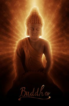 Buddhas Enlightenment art. Buddha at the time of enlightenment. Zen art with Buddha meditating with a burst of light, rays of awakening bursting forth. Wonderful peaceful Buddhist art for meditation and giving your space much needed zen! #spiritual #zen #buddha