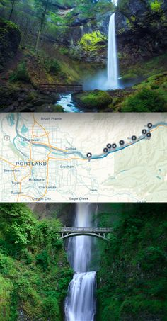 This Portland road trip takes you through the Columbia River Gorge past Oregon's prettiest waterfalls! Click through for the route! Oregon Vacation, Oregon Road Trip, Oregon Travel, Vacation Trips, Dream Vacations, Vacation Spots, Vacation Ideas, Beautiful Places To Travel, Cool Places To Visit