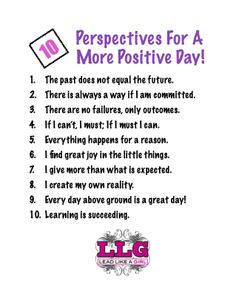 10 Perspectives For A More Positive Day!