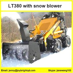 work with snow blower