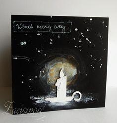 Ręcznie robiona kartka świąteczna/ Handmade Christmas card #lihgt #candle