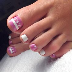 Beautiful Nail Designs for Toes ★ See more: https://naildesignsjournal.com/beautiful-nail-designs-toes/ #nails
