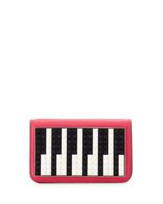 Les Petits Joueurs Janis Micro Piano Leather Clutch Bag, Fuchsia. bag, сумки модные брендовые, bags lovers, http://bags-lovers.livejournal