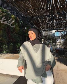 Modest Fashion Hijab, Modern Hijab Fashion, Street Hijab Fashion, Muslim Women Fashion, Modesty Fashion, Modest Outfits, Girl Outfits, Cute Outfits, Mode Turban