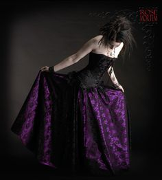 Acanthe Fairy Circle Skirt in Lace and Satin - In your color and size - By rosemortem on Etsy.