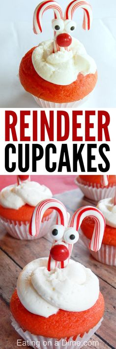 Reindeer Cupcakes recipe and DIY tutorial!  Today I have some super cute Reindeer Cupcakes for you to make. These are crazy easy, but oh so adorable.  Perfect for Christmas time!