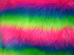 Rainbow Neon Faux Fur Craft Size by everafterfabrics on Etsy