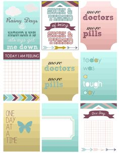 Not everyday is a happy one *Free Journaling Cards* — jessica*bree