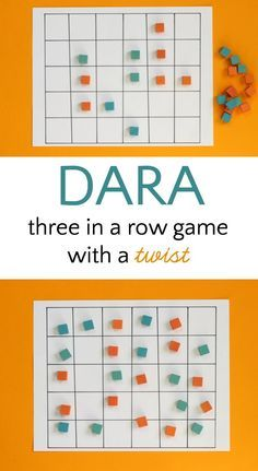 Dara is an abstract strategy game from Nigeria. Fun twist on the classic 3 in a row game.use for three addends Activity Games, Math Games, Games To Play, Logic Games For Kids, Articulation Activities, Baby Activities, Therapy Activities, Group Games, Family Games