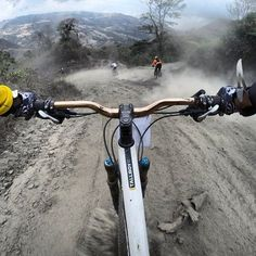 Go Pro Picture During Downhill (on holiday back soon)