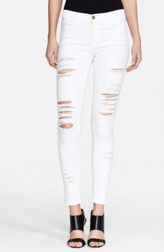 430de66ca3 Frame Denim  Le Color Rip  Skinny Jeans (Blanc) available at