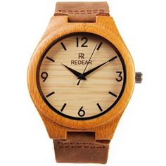CHICUU - CHICUU REDEAR Bamboo Water Resistant Simplicity Trendy Watch - AdoreWe.com