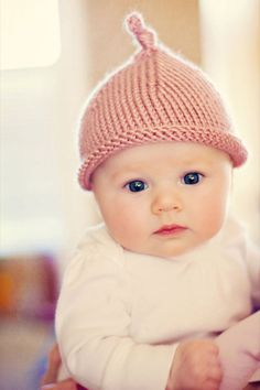 Baby knit hat - KNOT HAT - Pink - Dusty Rose