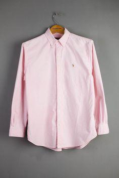 3ddf6a4e1 Ralph Lauren Oxford Shirt Pink Women Ladies Size Uk 14 Collars