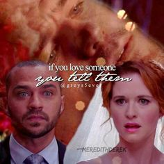 Gray's Anatomy Jackson and April. With Mark giving them advice.If you love someone...