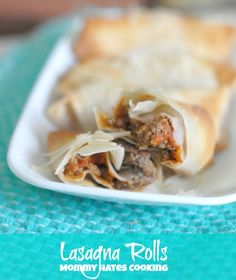 Lasagna Rolls I Mommy Hates Cooking