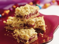 You'll find yourself reaching for just one more of these golden, rich, cranberry-filled bars. Go ahead, you deserve it! Caramel Apple Bars, Caramel Apples, Impressive Desserts, Easy Desserts, Delicious Desserts, Yummy Food, Cookie Recipes, Dessert Recipes, Bar Recipes