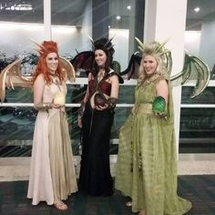 Awesome Game of Thrones Dragons Cosplay!  Kaeatri - Viserion | Maryssaraptor - Drogon | Sparkle Pipsi- Rhaegal