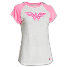 Women's Under Armour PIP Alter Ego Wonder Woman T-Shirt | Finish Line | Ivory/Pink