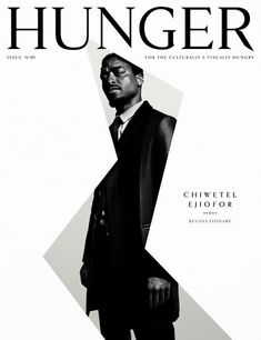 Week 4 Magazines CHIWETEL EJIOFOR Hunger Magazine Strong actor, non-retouched photo of him and simple but intriging layout, makes you want to see the rest of is. Magazine Cover Layout, Magazine Front Cover, Magazine Layouts, Magazine Fonts, Typography Magazine, Issue Magazine, Magazine Editorial, Fashion Design Books, Hunger Magazine