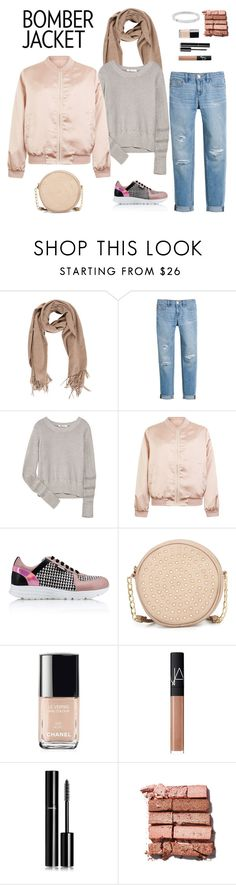 """""""Winter Style: Bomber Jackets"""" by fashionkookoo ❤ liked on Polyvore featuring White House Black Market, T By Alexander Wang, Cameo Rose, Karl Lagerfeld, Neiman Marcus, Chanel, NARS Cosmetics, Bobbi Brown Cosmetics, Michael Kors and women's clothing"""