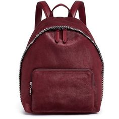 Stella McCartney 'Falabella' small shaggy deer backpack (4.380 BRL) ❤ liked on Polyvore featuring bags, backpacks, red, faux-leather backpacks, rucksack bags, stella mccartney bag, faux-leather bags and backpack bags