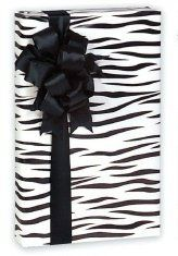 Trendy Boutique Black & White Zebra Striped Gift Wrap Wrapping Paper 16 Foot Roll . $5.99
